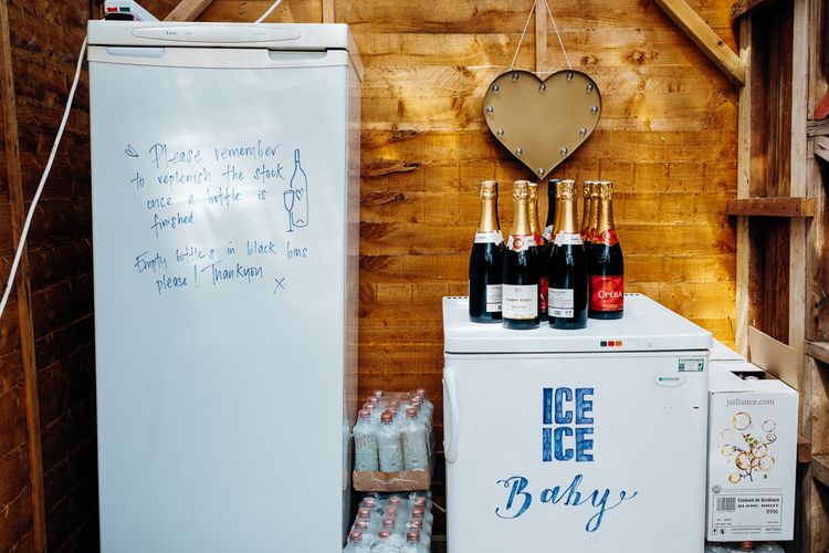 Fridges of Alcohol | Bright DIY 'At Home' Outdoor Garden Ceremony & Marquee Reception | Marianne Chua Photography