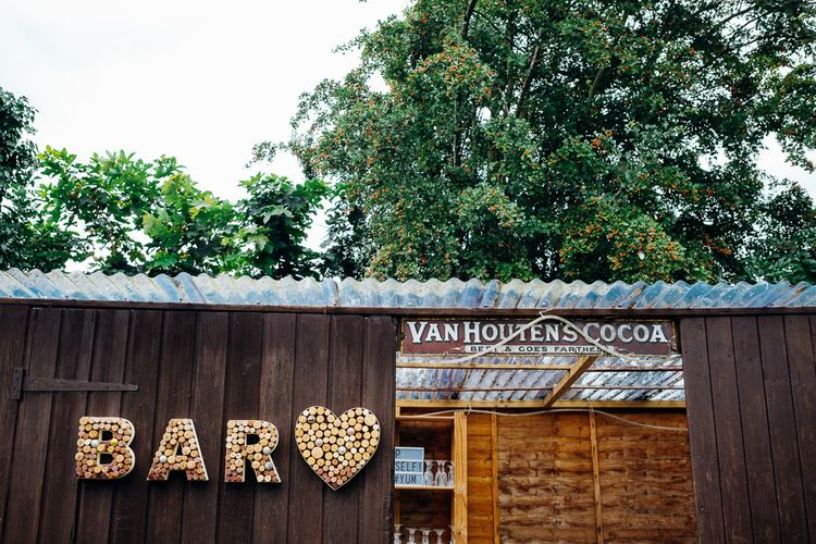 Shed Bar | Bright DIY 'At Home' Outdoor Garden Ceremony & Marquee Reception | Marianne Chua Photography
