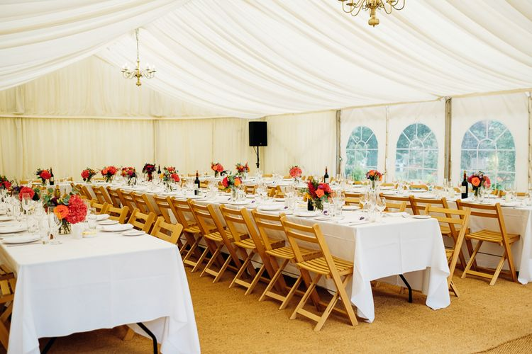 Marquee Reception | Bright DIY 'At Home' Outdoor Garden Ceremony & Marquee Reception | Marianne Chua Photography