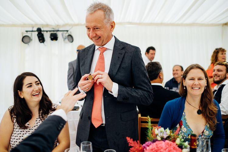 Wedding Reception Speeches | Bright DIY 'At Home' Outdoor Garden Ceremony & Marquee Reception | Marianne Chua Photography