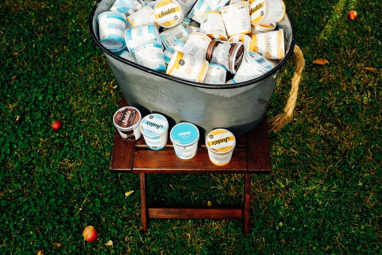 Ice-Cream Dessert | Bright DIY 'At Home' Outdoor Garden Ceremony & Marquee Reception | Marianne Chua Photography
