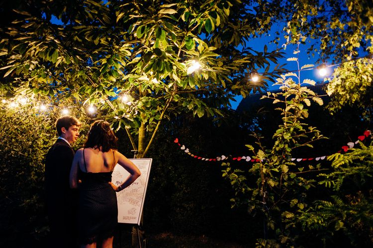 Festoon Lights | Bright DIY 'At Home' Outdoor Garden Ceremony & Marquee Reception | Marianne Chua Photography