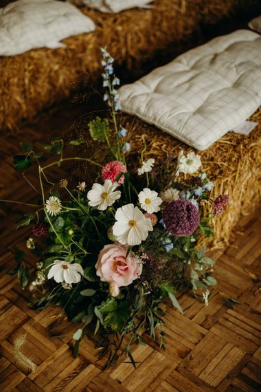 Wildflower aisle decor