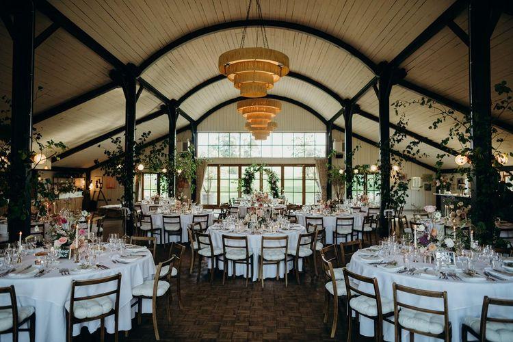 Soho Farmhouse Wedding Reception with Botanical Flowers