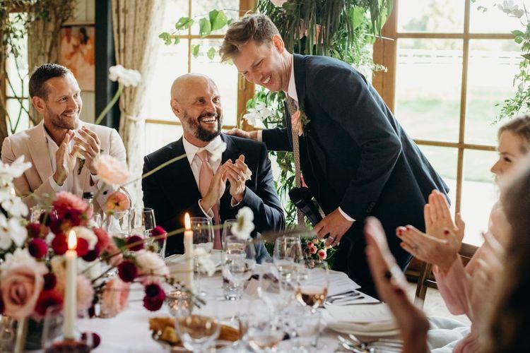 Groom Giving his Speech at Soho Farmhouse Wedding