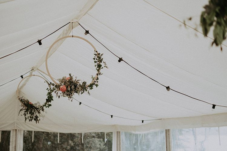 Marquee Wedding with DIY Flower Hoops