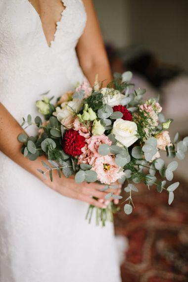 Small Bridal Bouquet with Eucalyptus