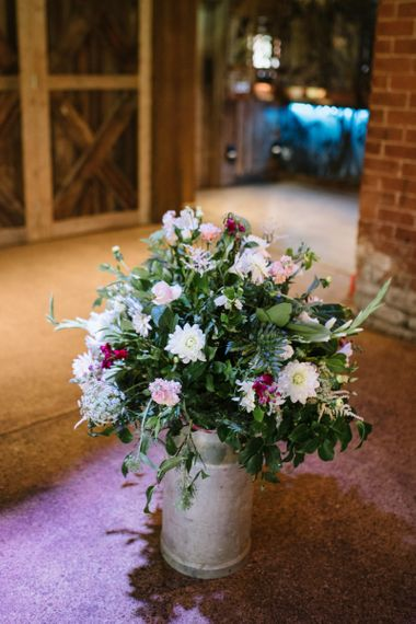 Milk Churn Filled with Wedding Flowers