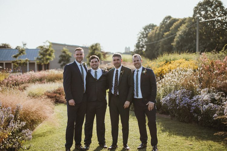 Groom and Groomsmen  For Hauser and Wirth Somerset Wedding
