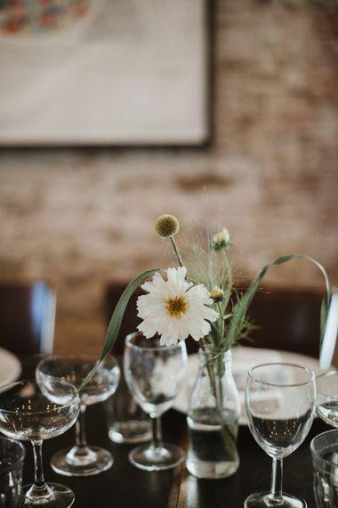 Wedding Table Decor Flower Stems in Bottles