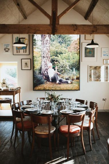 Wedding Table Set Up For Hauser and Wirth Somerset Wedding