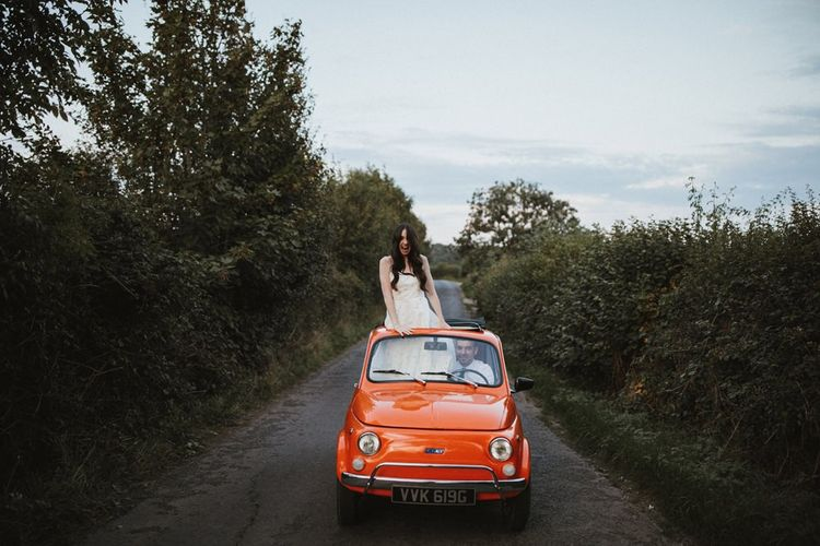 Fiat 500 Vintage Car Wedding Transport