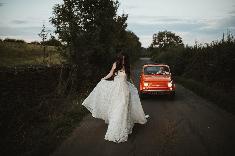 Bride In Truvelle Bridal Gown