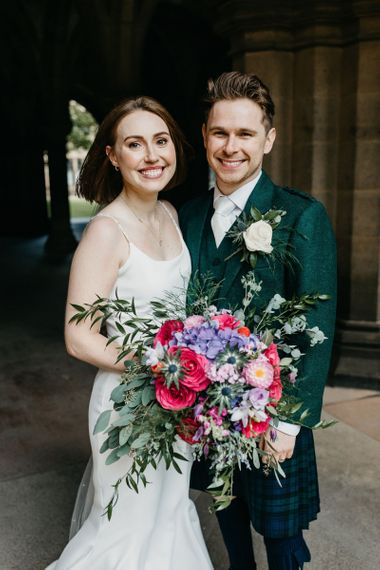 Bride and groom portrait by Emma Lawson Photography