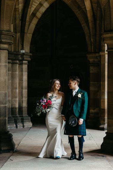 Glasgow University Chapel wedding photographs