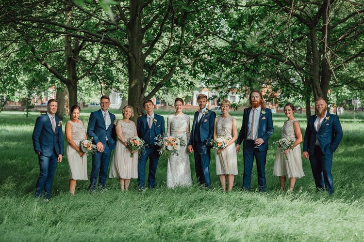 Bridesmaids In Sequinned Tops // Images By Emily & Steve