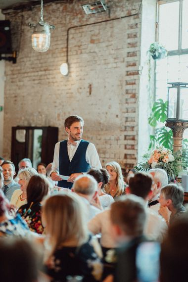 Wedding Speeches //  Clapton Country Club Wedding // Images By Emily & Steve