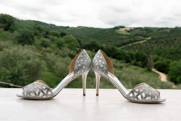 Silver Wedding Shoes From Badgley Mischka
