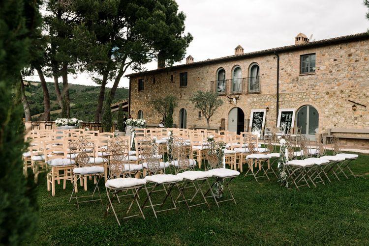 Wedding Ceremony Set Up In Tuscany
