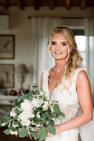 Bridal Beauty With White Flowers