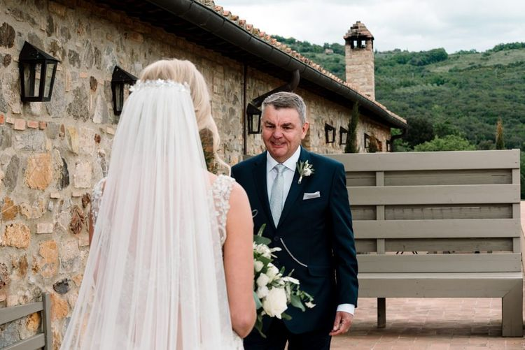 Father Of The Bride Sees Bride For First Time