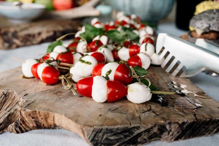 Tomato and Mozerella Wedding Food