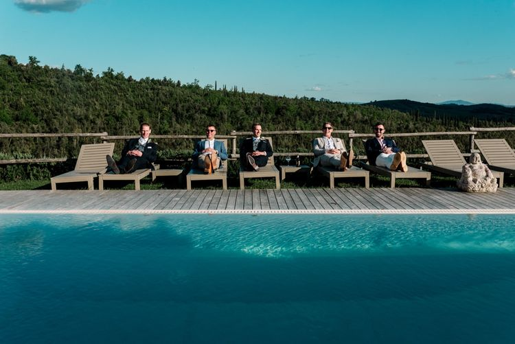 Guests Relax Next To Pool In Tuscany