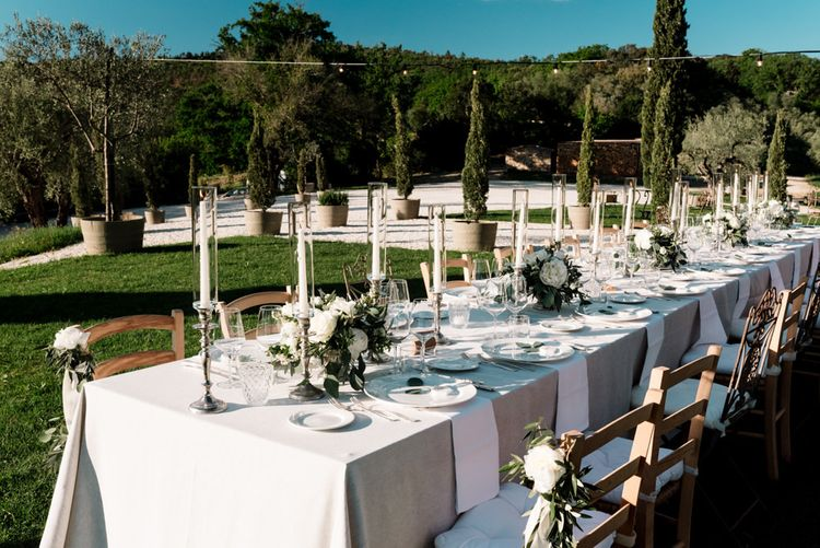 Wedding Table Set Up And Decor For Outdoor Wedding