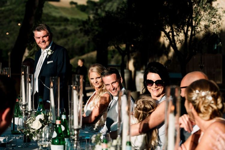 Wedding Speeches During Reception In Tuscany