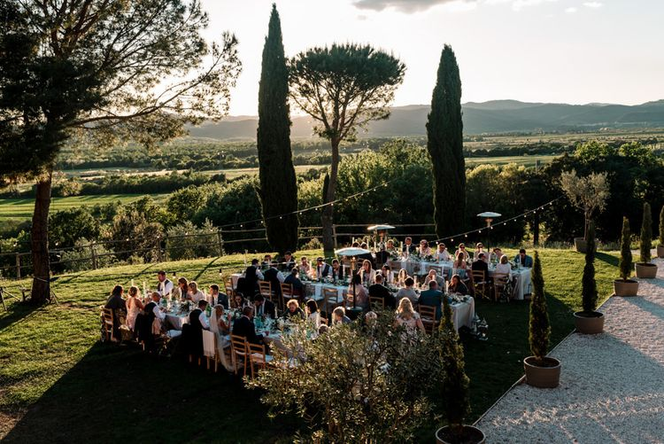 Guests Enjoying Intimate Outdoor Reception