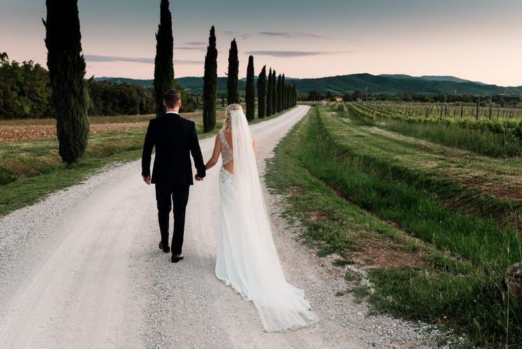 Badgley Mischka Wedding Dress with Veil