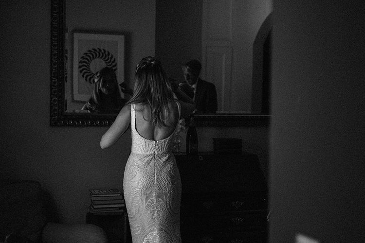 Beautiful Bride Dress Lace Back in Blush by Ashley and Justin