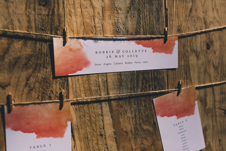 Wooden Table Plan For Wedding Outside