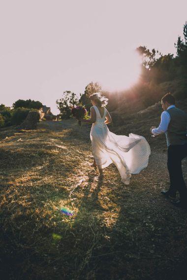 Charlie Brear Wedding Dress and Over Skirt