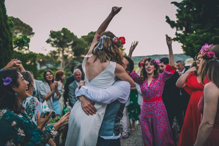 Groom Lifts Bride During First Dance At Destination Wedding