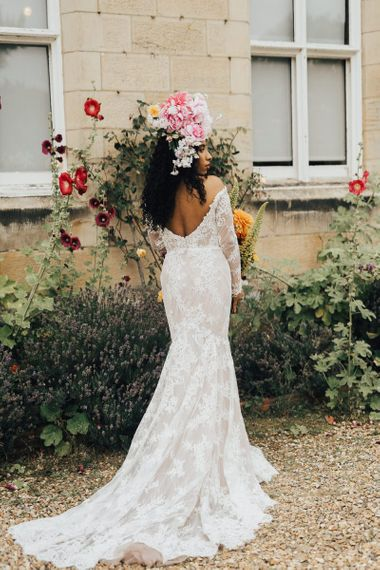Love in Lace bridal gown with long sleeves