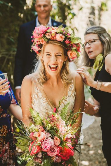 Colourful Wedding Fiesta at Abbotsbury Wedding in Weymouth, Dorset | Photography by Paul Underhill.
