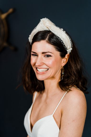Turban headband bridal accessory