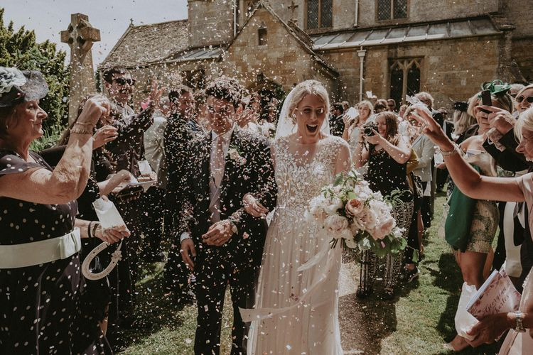 Confetti Cannon | Church Wedding Ceremony Confetti Exit |  Jason Mark Harris Photography