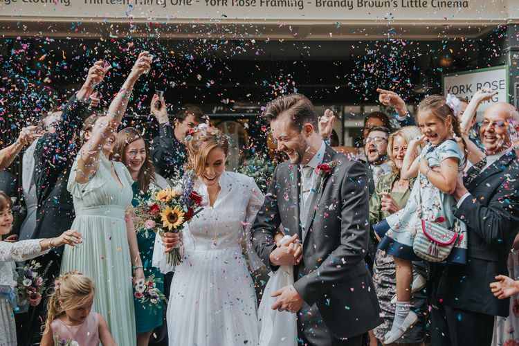 Confetti Cannon | Wedding Ceremony Confetti Exit |  | Lianne Gray Photography