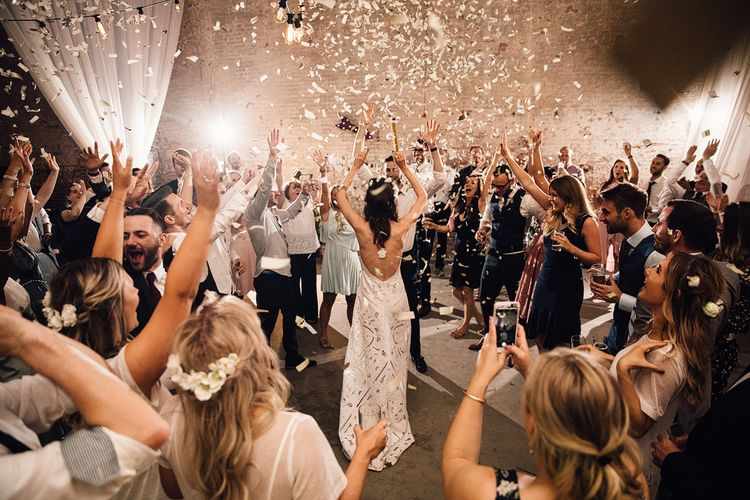 Confetti Cannon | Dance Floor |  Samuel Docker Photography