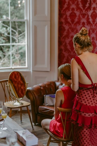 Bride Getting Ready For Wedding // Minimalist Wedding Dress By Bon Bride // Brixton East Wedding // Chris Adnitt Events // Millar Cole Photography // Basque Country Style Catering For Wedding