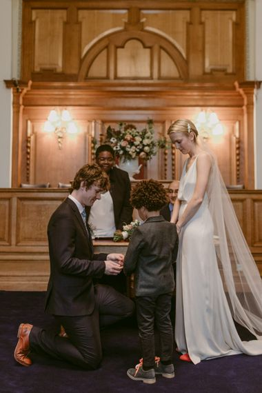 Registry Office Wedding // Minimalist Wedding Dress By Bon Bride // Brixton East Wedding // Chris Adnitt Events // Millar Cole Photography // Basque Country Style Catering For Wedding