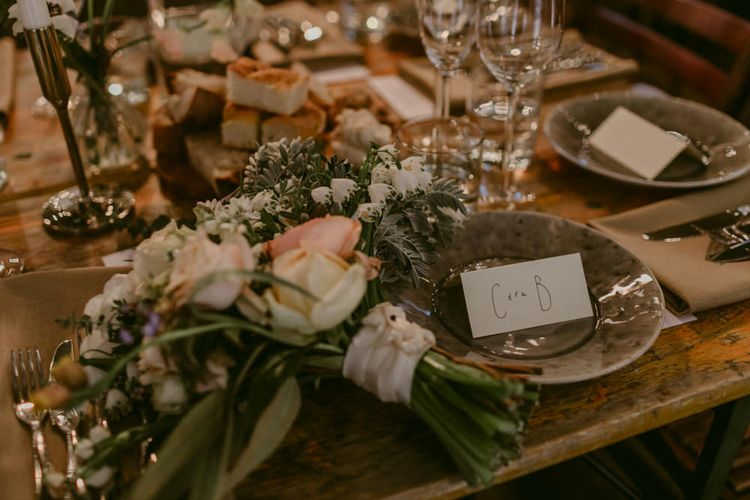 Relaxed Dining For Wedding // Minimalist Wedding Dress By Bon Bride // Brixton East Wedding // Chris Adnitt Events // Millar Cole Photography // Basque Country Style Catering For Wedding