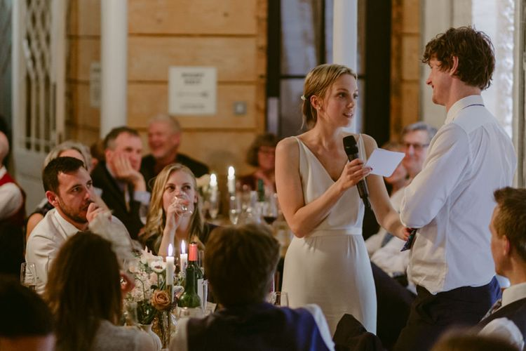 Wedding Speech From The Bride // Minimalist Wedding Dress By Bon Bride // Brixton East Wedding // Chris Adnitt Events // Millar Cole Photography // Basque Country Style Catering For Wedding