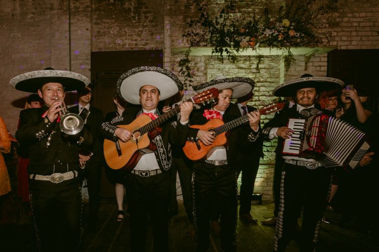 Mariachi Band For Wedding //Minimalist Wedding Dress By Bon Bride // Brixton East Wedding // Chris Adnitt Events // Millar Cole Photography // Basque Country Style Catering For Wedding