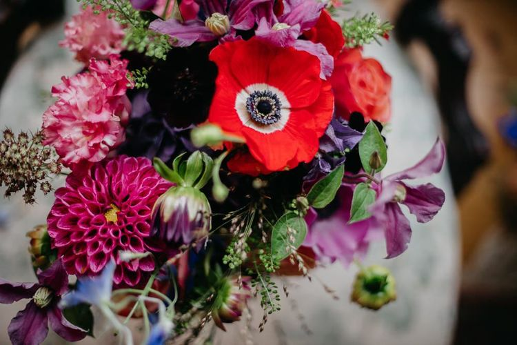Bright flowers for a colourful kitsch celebration in London