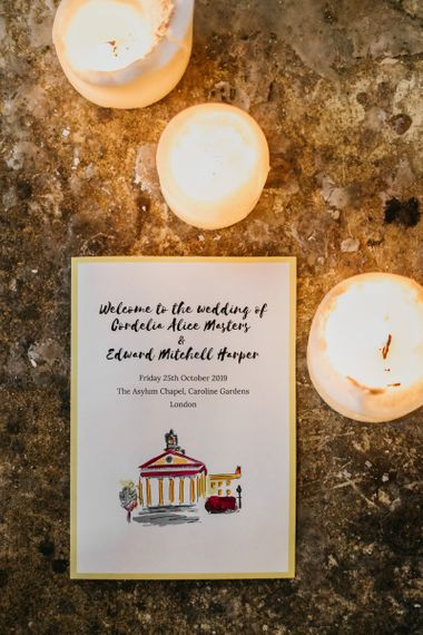 Stationary for celebration in London with bright and fun decor