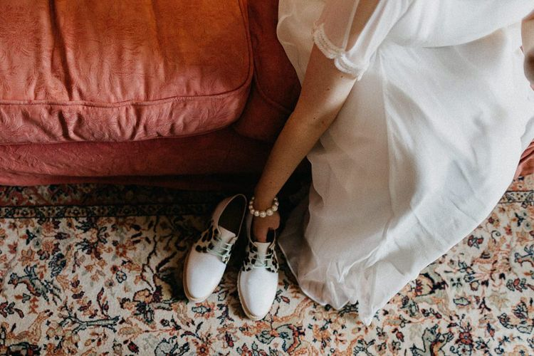Bridal shoes from Rogue Matlida for a colourful kitsch celebration in London