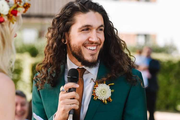Groom in Green Wedding Suit from Xuits